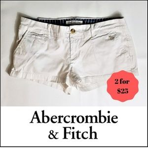 2 FOR $25 ABERCROMBIE - White Stretch Shorts - 4